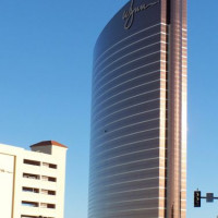 Zijaanzicht van het Wynn Las Vegas