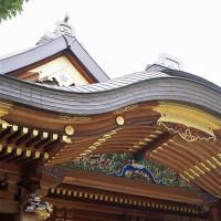 Detail van Japans heiligdom
