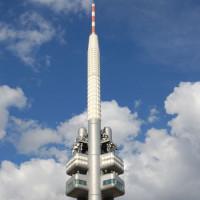 Top van de Žižkov-televisietoren