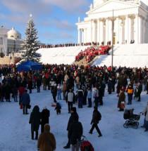 Kerstperiode in Helsinki