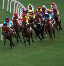 Paardenraces op de Happy Valley Racecourse